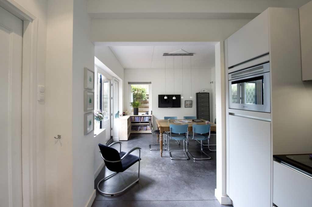 Opening tussen kamer en keuken